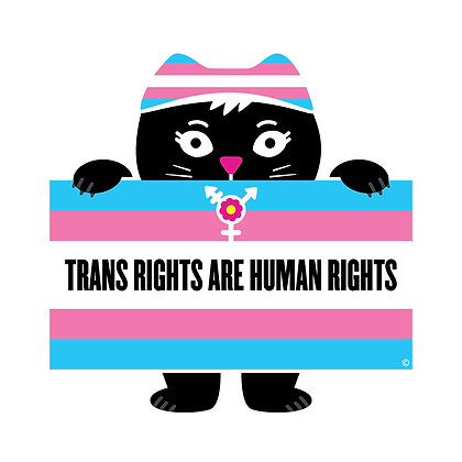 Trans Rights Flag Die-Cut Sticker