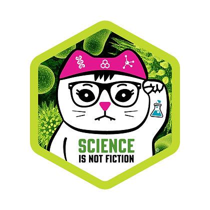 Science Pandemic Hex Die-Cut Sticker