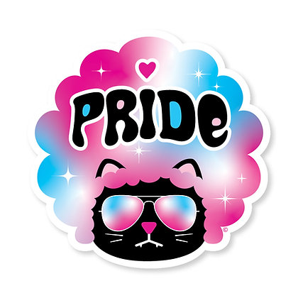 Cool Kat Trans Die-Cut Sticker