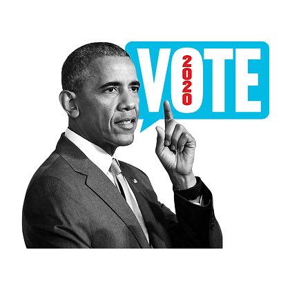 Obama Vote Die-Cut Sticker