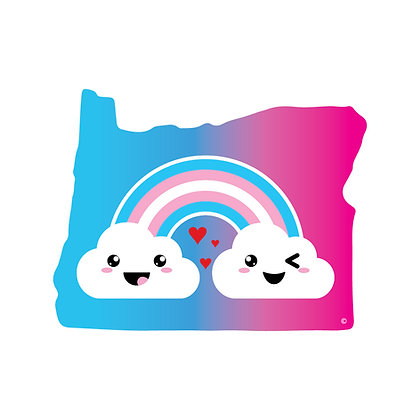 Oregon Trans Pride Die-Cut Sticker