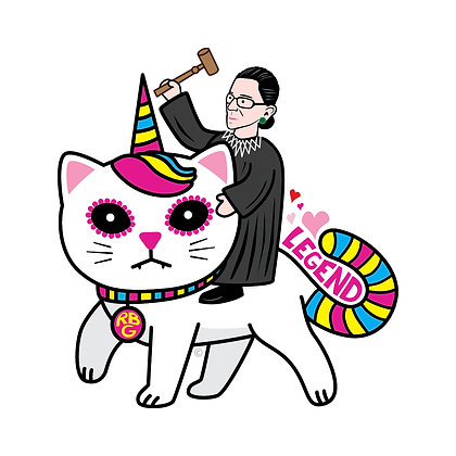 RBG Unicorn Kitty Die-Cut Sticker