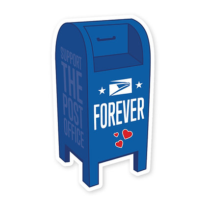 USPS Forever Mailbox Die-Cut Sticker