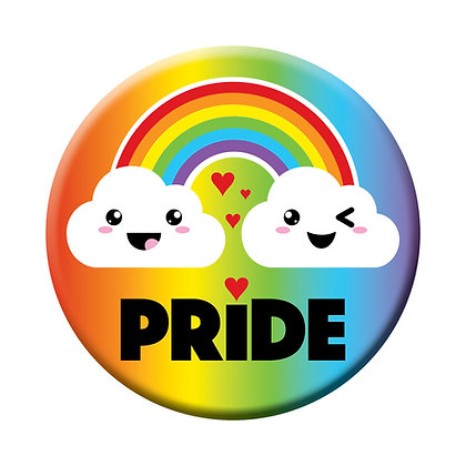 Pride Winking Rainbow Magnet