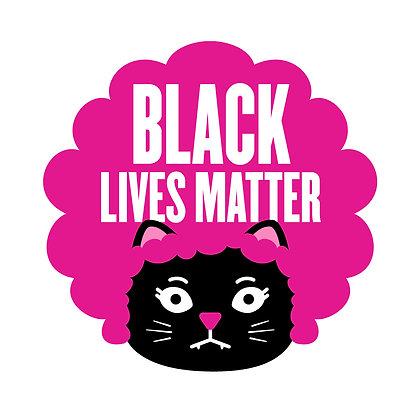 Black Lives Matter Kat Die-Cut Sticker