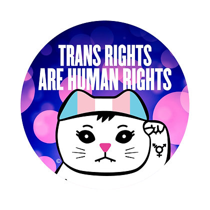 Trans Rights Round Sticker