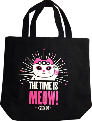 THE TIME IS MEOW! Tote Bag