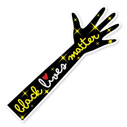 Black Lives Matter Sparkle Arm Die-Cut Sticker