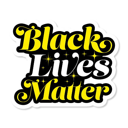 Black Lives Matter Script Die-Cut Sticker