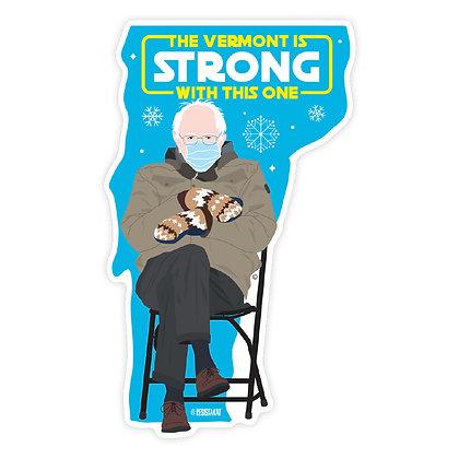 Bernie Sanders Mittens Vermont Die-Cut Sticker