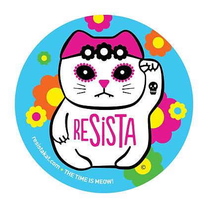 ReSISTA Kat Blue Round Sticker
