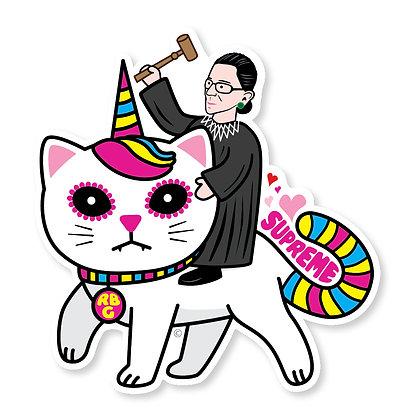 RBG SUPREME Unicorn Kitty Die-Cut Sticker