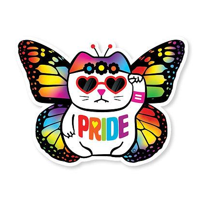 Pride Rainbow Butterfly Die-Cut Sticker