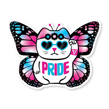 Pride Trans Butterfly Die-Cut Sticker