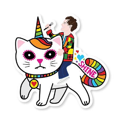 Harry Styles Unicorn Kitty Die-Cut Sticker