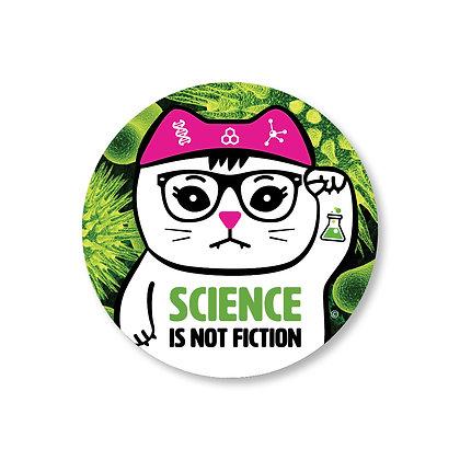 Science is Not Fiction Virus Sticker