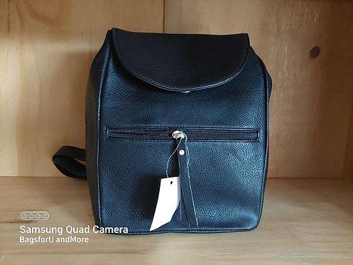 Frankie Front Zip Backpack - black