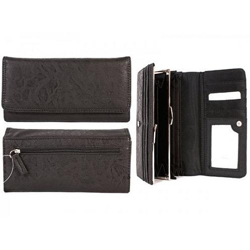 Ridgeback PU ladies purse black