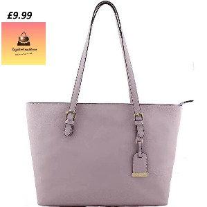Fashion Designer Shopper Handbag Dusky Pink
