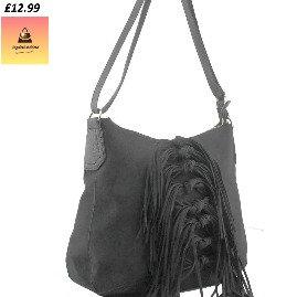 Suede Fashion Shoulder Bag Black
