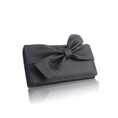 Large Bow PU leather purse