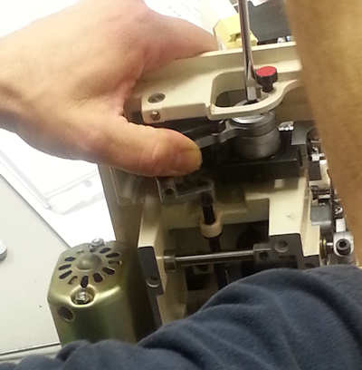 Sergers are even easier than regular sewing machines.