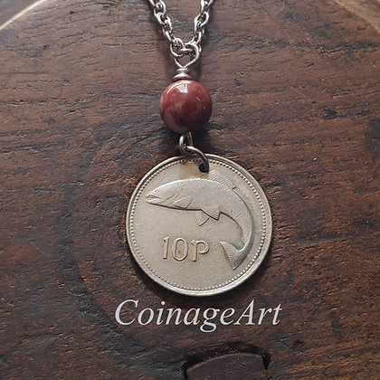 1994 Celtic Coin Necklace, Cork Marble 763