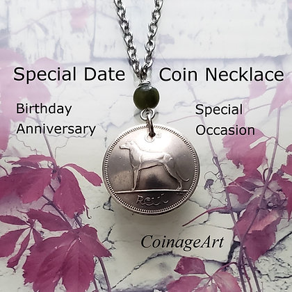 Select A Date Irish Coin Necklace 5080-01