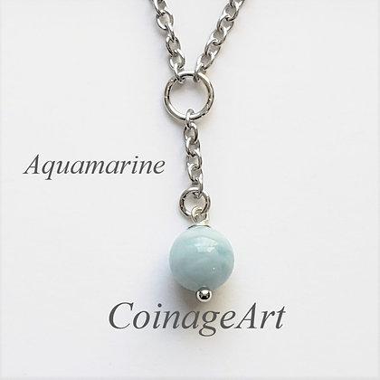Aquamarine Gemstone Necklace 5051
