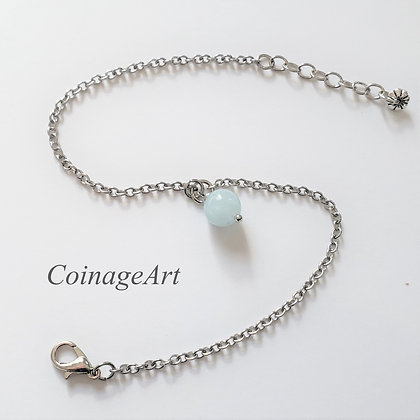 Aquamarine Gemstone Anklet 5052