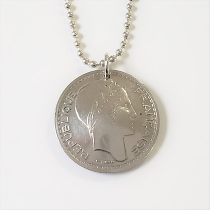 1948 French Marianne Coin Necklace 1080