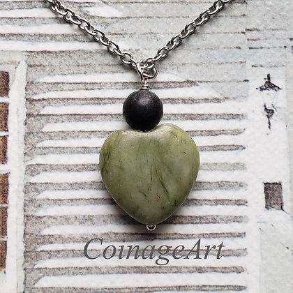 Connemara Heart Necklace w/ Kilkenny Marble 5034