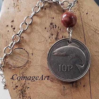 1999 Irish Coin Necklace, Cork Marble 762