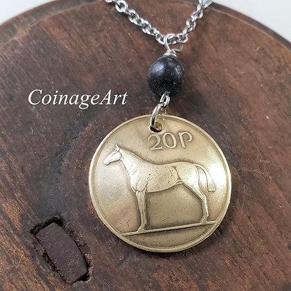 Irish Horse Coin Necklace w/Kilkenny  5048
