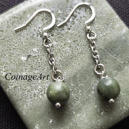 Irish Connemara Marble Earrings 5019