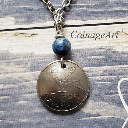 Norway Necklace w/Lapis Lazuli 5049