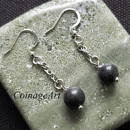 Irish Kilkenny Black Marble Earrings 5021