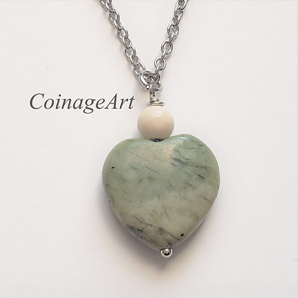 Connemara Heart Necklace w/Ulster Marble 5031