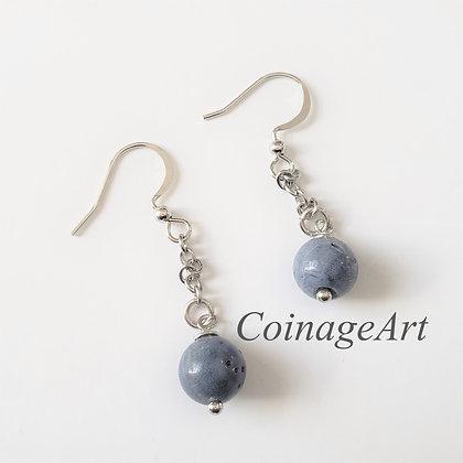 Blue Coral Stone Earrings 5024