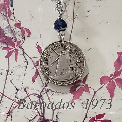 1973 Morgan Lewis Mill Coin Necklace, Sodalite 998