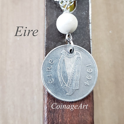 1995 Harp Coin Necklace, Ulster Marble 755