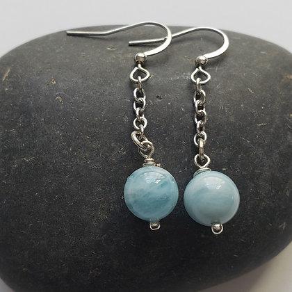 Aquamarine Gemstone Earrings 5053