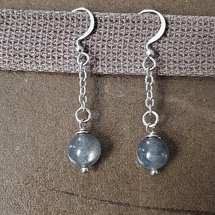 Grey Labradorite Gemstone Earrings 5023