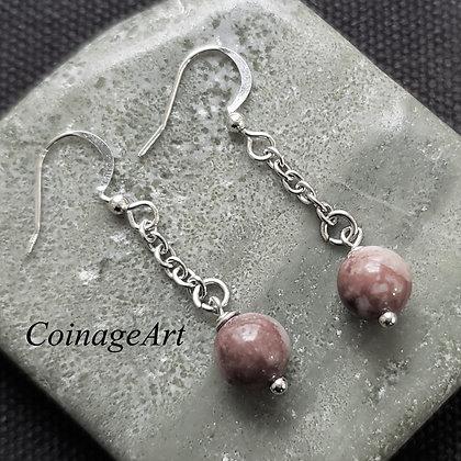 Irish Cork Red Marble Earrings 5022