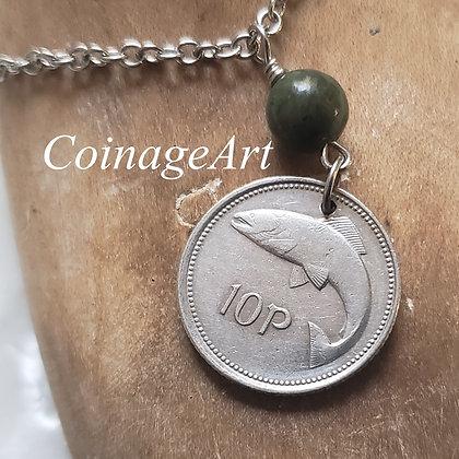 1995 Celtic Fish Coin Necklace, Connemara 759