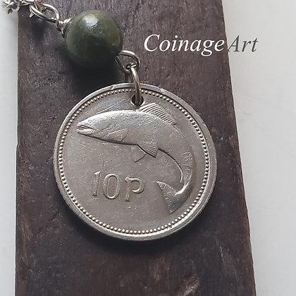 1995 Irish Fish Coin Necklace, Connemara 757