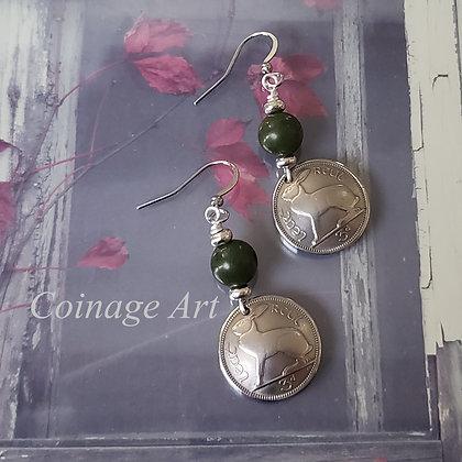 Ireland Earrings w/Connemara Marble  5039