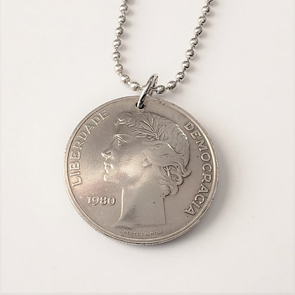 1980 Portugal Coin Necklace 1078