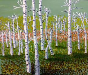 28. Dancing Birches