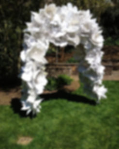 Paper Flower Wedding Arch